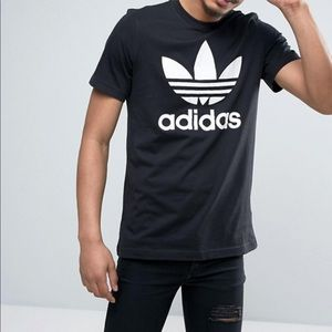 [Adidas Originals] Black Tre Foil T-shirt